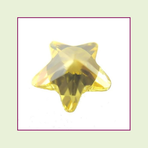 CZZ303 - 5mm Star Crystal - Yellow for Floating Lockets
