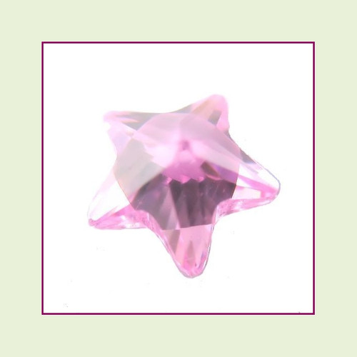 CZZ304 - 5mm Star Crystal - Pink for Floating Lockets