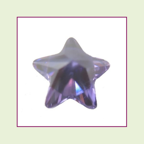 CZZ305 - 5mm Star Crystal - Purple for Floating Lockets