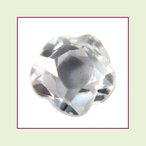 CZZ403 - 5mm Flower Crystal - Clear