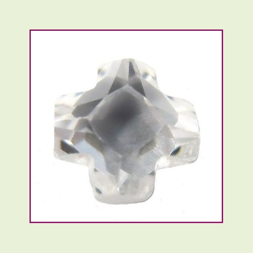 CZZ405 - 5mm Cross Crystal - Clear