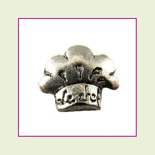 Chef Hat Silver Floating Charm