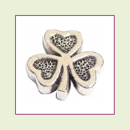 Shamrock Silver Floating Charm