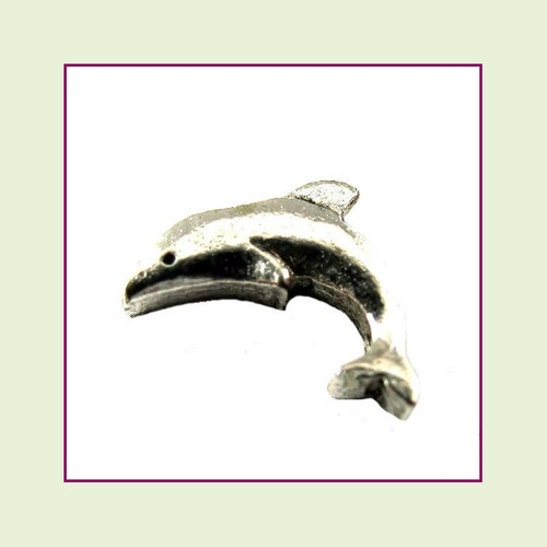 Dolphin Silver Floating Charm