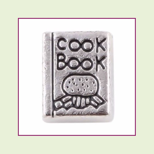 Cook Book Silver Floating Charm