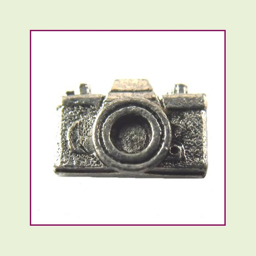 Camera Silver Floating Charm