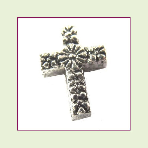 Cross Small Silver Decorative Floating Charm