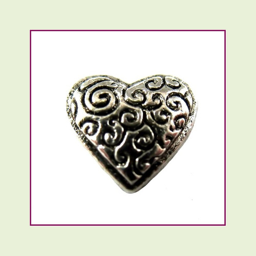 Heart Decorative Silver Floating Charm