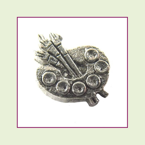 Artist Palette Silver Floating Charm