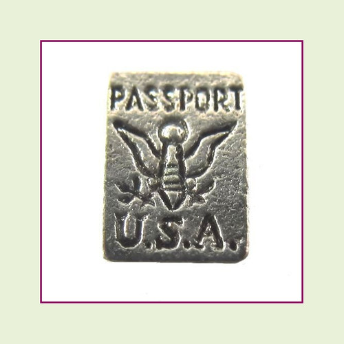 Passport Silver Floating Charm