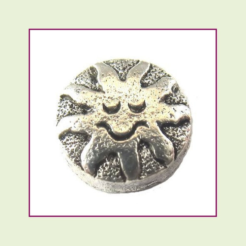 Sun with Smile Silver Floating Charm