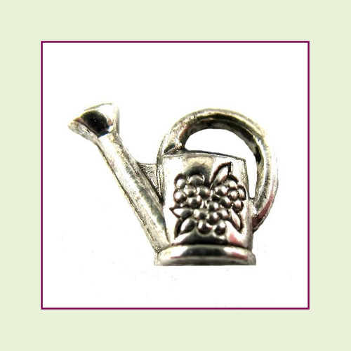 Watering Can Silver Floating Charm