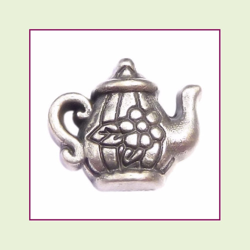 Teapot Silver Floating Charm
