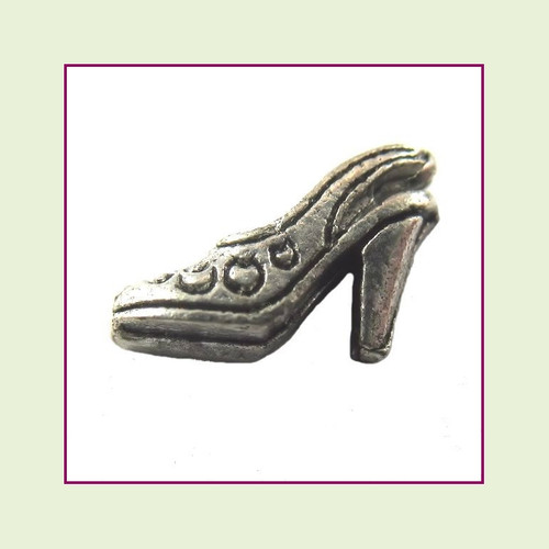 Shoe Silver High Heel Floating Charm
