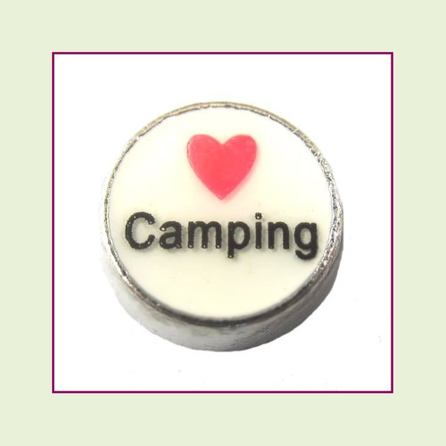 Love Camping (Silver Base) Floating Charm
