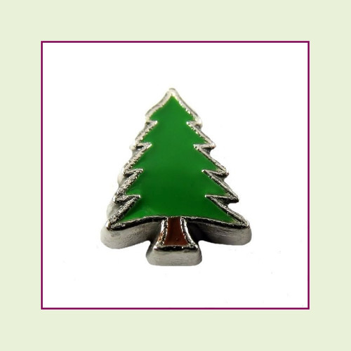 Pine Tree (Silver Base) Floating Charm