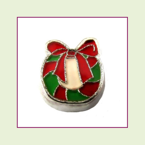 Christmas Wreath (Silver Base) Floating Charm
