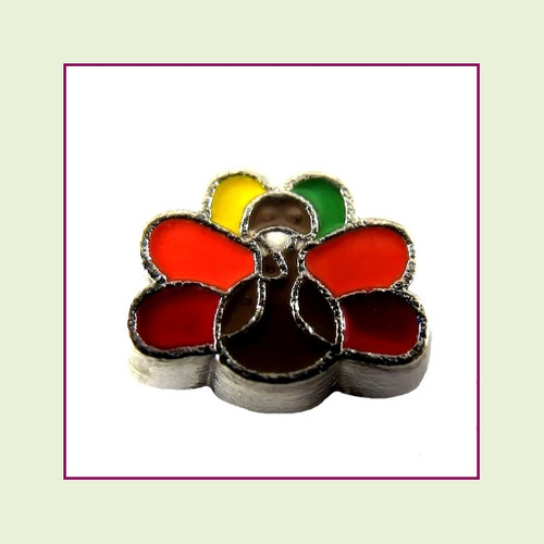 Thanksgiving Turkey (Silver Base) Floating Charm