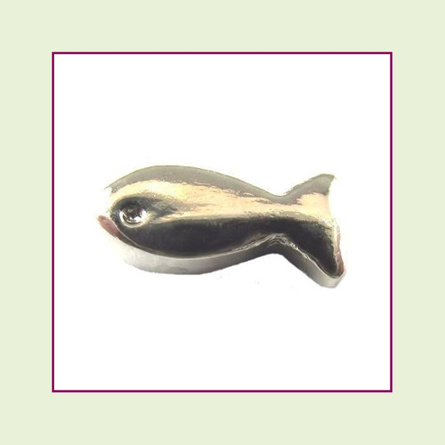 Fish Silver Floating Charm