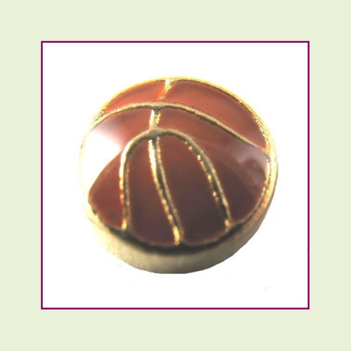 Basketball (Gold Base) Floating Charm