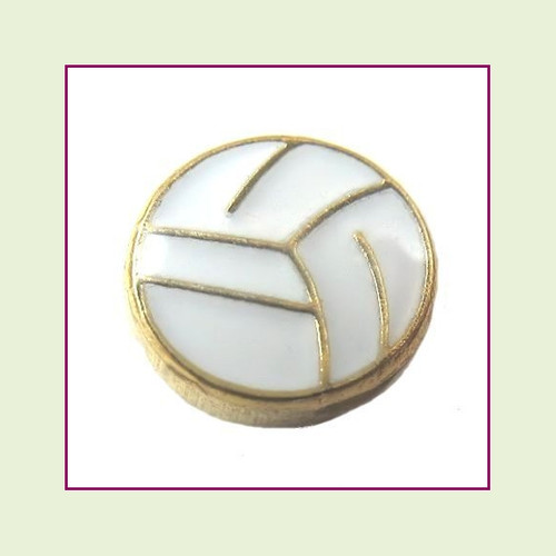 Volleyball (Gold Base) Floating Charm