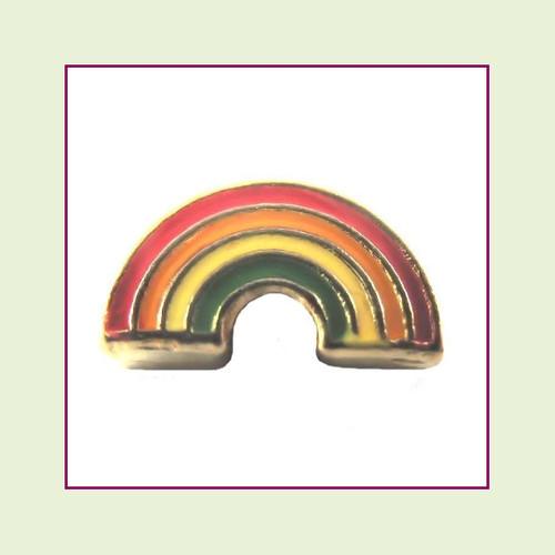 Rainbow (Gold Base) Floating Charm