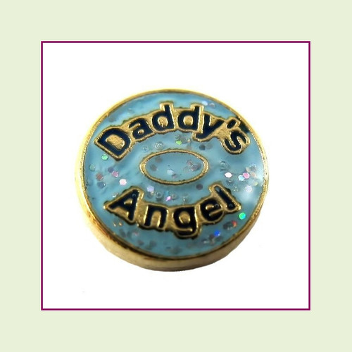 Daddy's Angel (Gold Base) Floating Charm