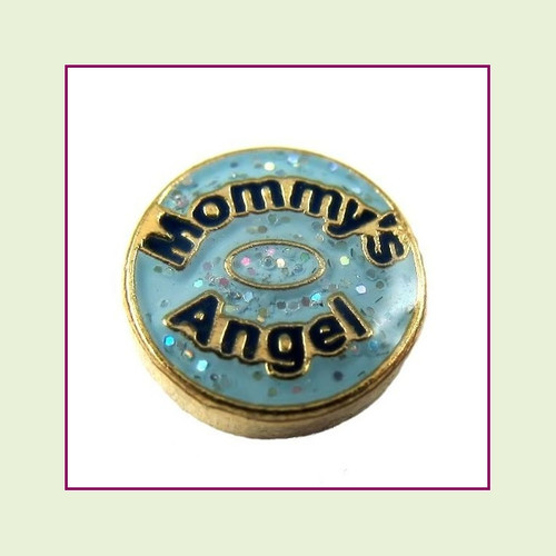 Mommy's Angel (Gold Base) Floating Charm