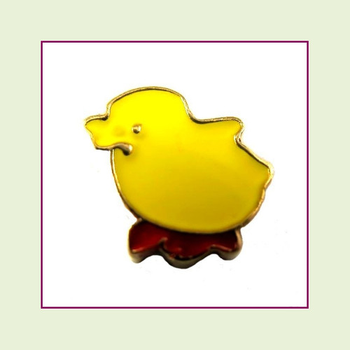 Baby Chick Yellow (Gold Base) Floating Charm