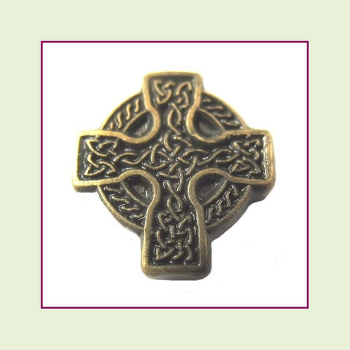 Cross Celtic Bronze Floating Charm