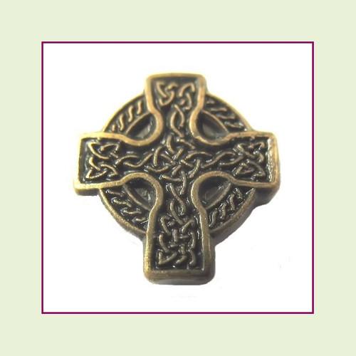 Cross Celtic Bronze Floating Charm
