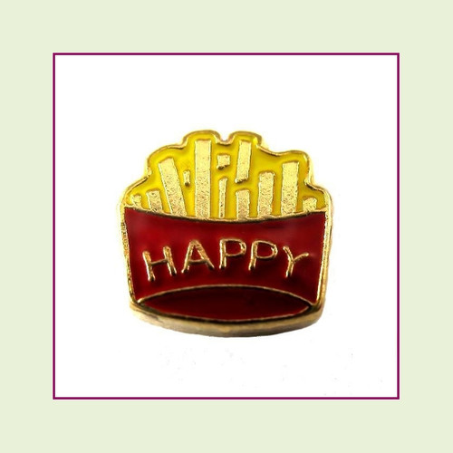 Happy Fries (Gold Base) Floating Charm