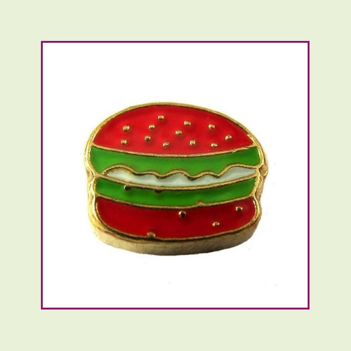 Hamburger (Gold Base) Floating Charm