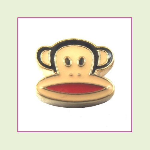 Monkey Head (Gold Base) Floating Charm
