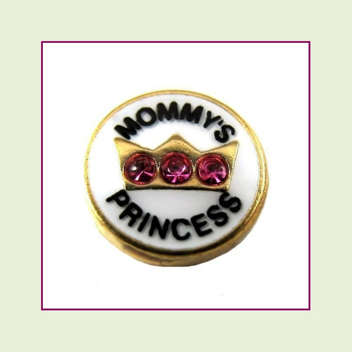 Mommy's Princess (Gold Base) Floating Charm