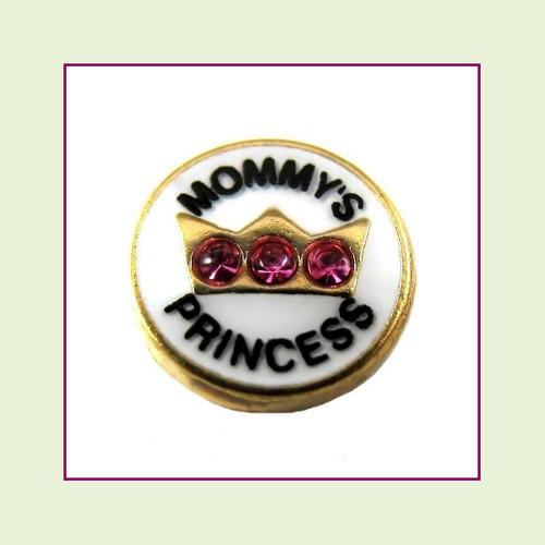 Mommy's Princess (Gold Base) Floating Charm