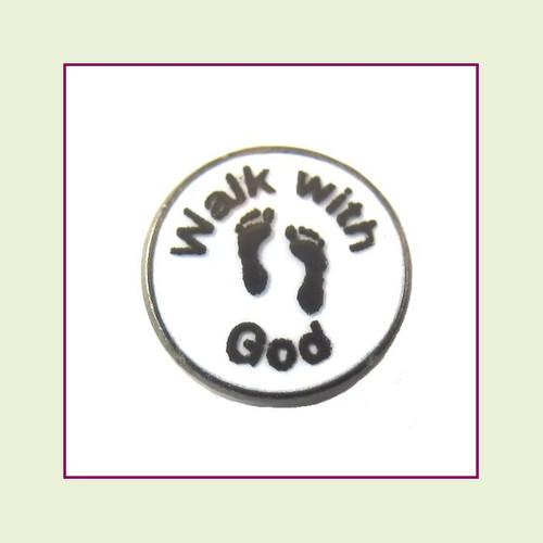 Walk With God (Black Base) Floating Charm