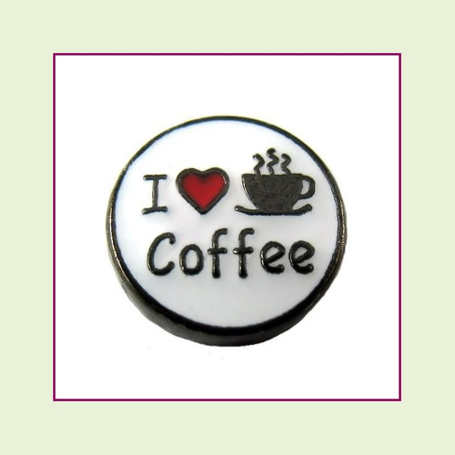 I Love Coffee (Black Base) Floating Charm