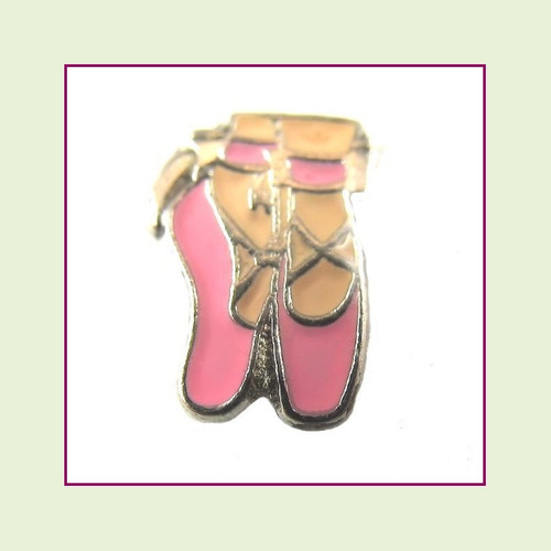 Ballet Shoes (Silver Base) Floating Charm