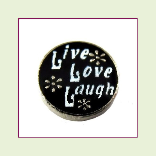 Live Love Laugh (Silver Base) Floating Charm