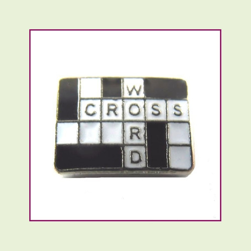 Crossword (Silver Base) Floating Charm