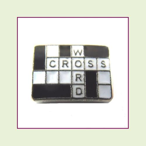 Crossword (Silver Base) Floating Charm