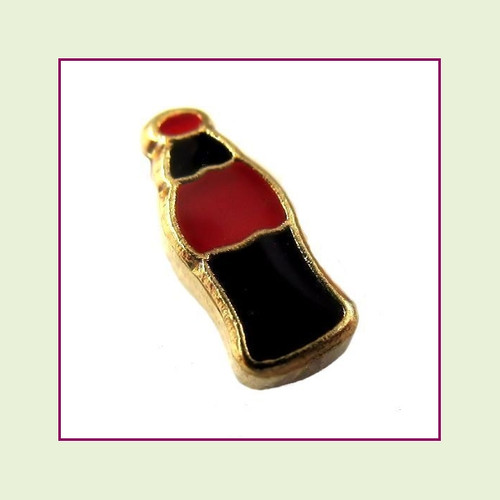 Soda Bottle (Gold Base) Floating Charm