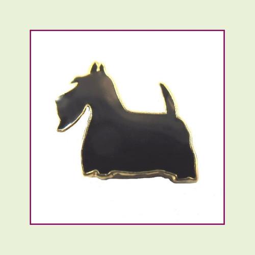 Dog - Scottish Terrier (Gold Base) Floating Charm