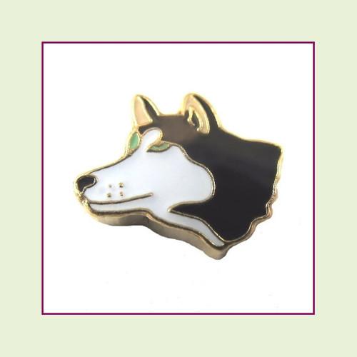 Dog - Siberian Husky (Gold Base) Floating Charm