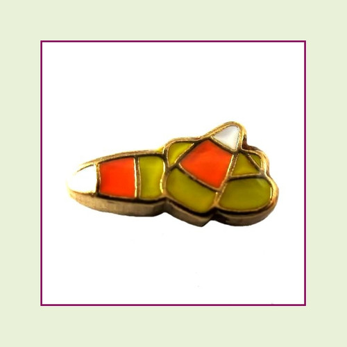 Candy Corn (Gold Base) Floating Charm