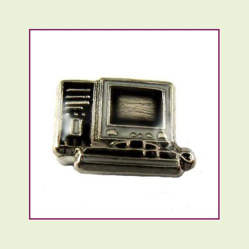 Desktop Computer (Silver Base) Floating Charm