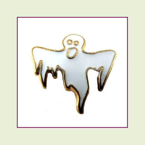 Ghost #3 (Gold Base) Floating Charm
