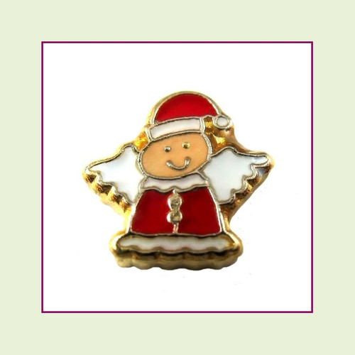 Christmas Angel (Gold Base) Floating Charm
