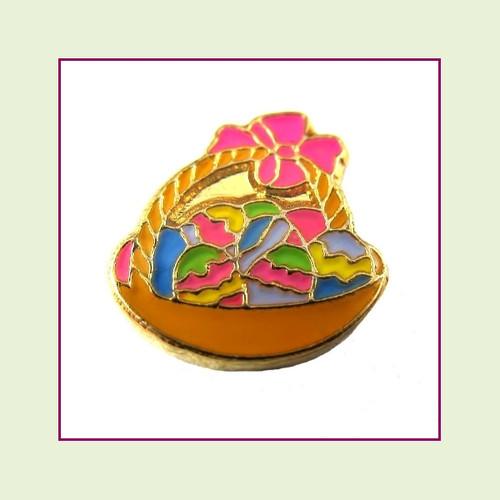 Easter Basket (Gold Base) Floating Charm